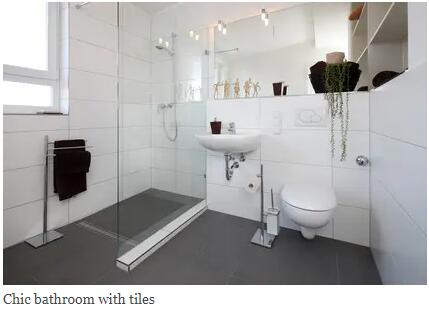 Small Bathroom – Large Tiles